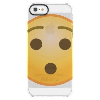 Coque iPhone Clear SE/5/5s Emoji étonné