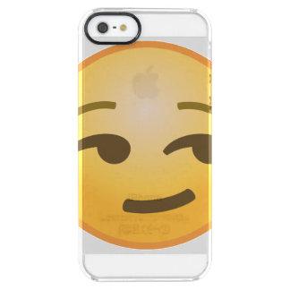 Coque iPhone Clear SE/5/5s Emoji souriant d'un air affecté