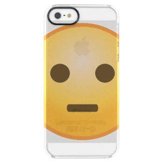 Coque iPhone Clear SE/5/5s Jugement d'Emoji