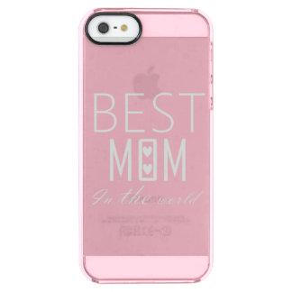 COQUE iPhone CLEAR SE/5/5s LA MEILLEURE MAMAN AU MONDE IPHONE