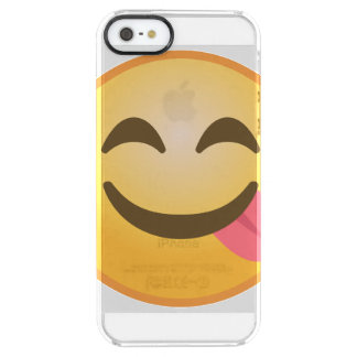 Coque iPhone Clear SE/5/5s Langue latérale Emoji