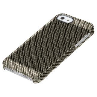 Coque iPhone Clear SE/5/5s Motif de grillage d'acier inoxydable