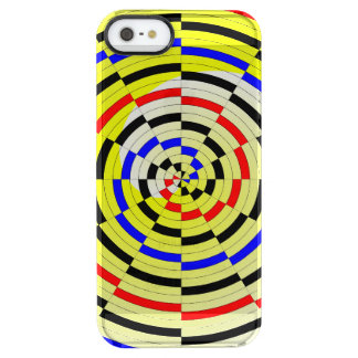 Coque iPhone Clear SE/5/5s Spirales jaunes