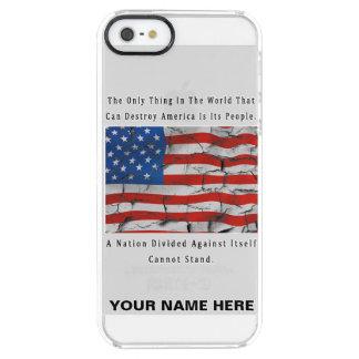 Coque iPhone Clear SE/5/5s Une nation divisée (LETTRES NOIRES)