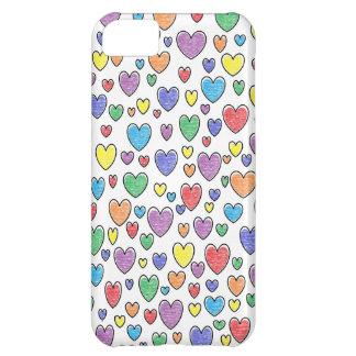 Coque iphone coloré de coeurs