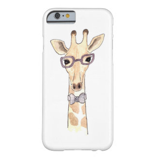 Coque iphone d'aquarelle de girafe coque iPhone 6 barely there