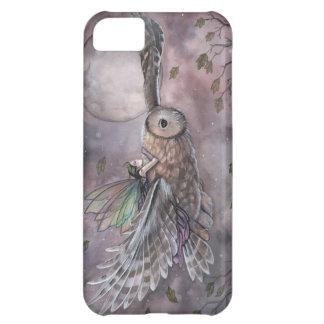 Coque iphone d'art d'imaginaire de fée et de hibou
