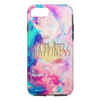 Coque iphone de bonheur d'aquarelle