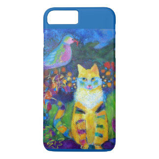 Coque iphone de chat et d'oiseau coque iPhone 7 plus