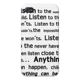 Coque iphone de citation de Shel Silverstein Coque iPhone 4/4S