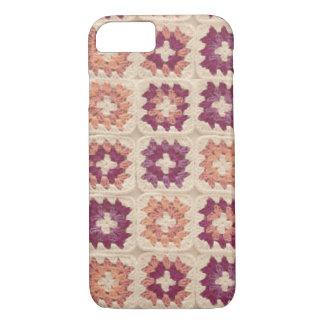 Coque iphone de crochet de carré de mamie