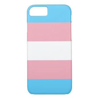 Coque iphone de drapeau de transsexuel (iPhone