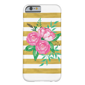Coque iphone de fleur d'aquarelle coque iPhone 6 barely there