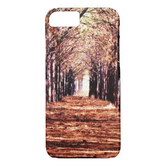 Coque iphone de forêt de pins de paysage de nature