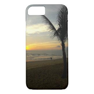 Coque iphone de lever de soleil de palmier