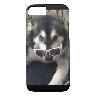 Coque iphone de lunettes de soleil de Malamute