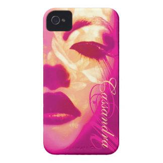Coque iphone de mode de rose de visage peint par