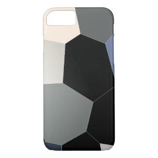 Coque iphone de noir bleu en verre souillé