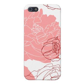 Coque iphone de point d'art de motif de fleur de p étui iPhone 5