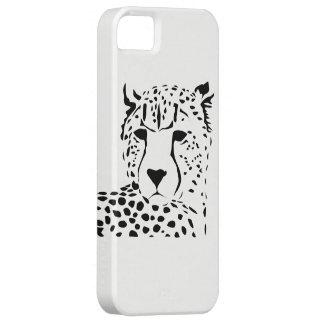 Coque iphone de portrait de guépard