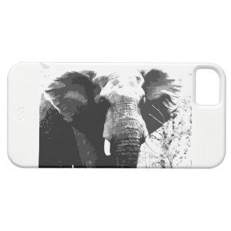 Coque iphone de portrait d'éléphant