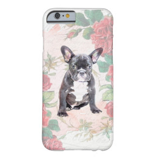 Coque iphone de roses de valentine de bouledogue coque iPhone 6 barely there