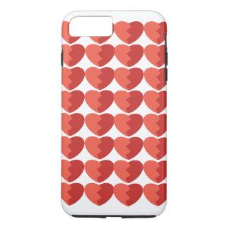Coque iphone de tuile de coeur