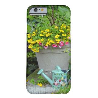 Coque iphone d'impression de fleurs et de boîte