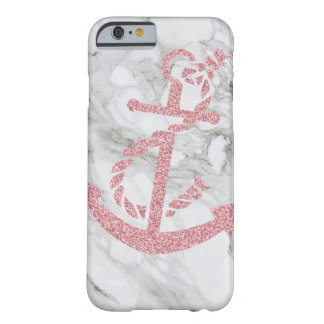 coque iphone élégant moderne de marbre d'ancre de