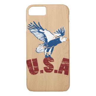 Coque iphone en bois des Etats-Unis Eagle