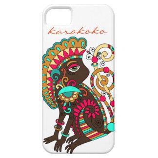 Coque iphone ethnique de singe de Karakoko Fashio