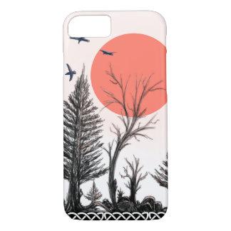 coque iphone foncé de forêt