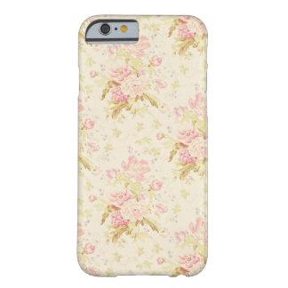 Coque iphone Girly rose de papier peint floral