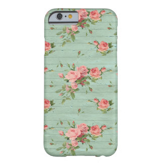 Coque iphone Girly vintage floral bleu