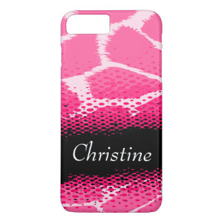 Coque iphone graphique rose de poster de animal