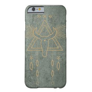 Coque iphone inspiré indigène de vert et d'or