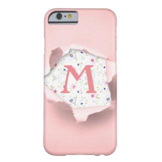 Coque iphone mignon Girly floral de monogramme