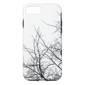 Coque iphone noir et blanc de branches d'arbre
