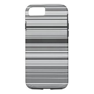 Coque iphone noir et blanc de motif de rayures