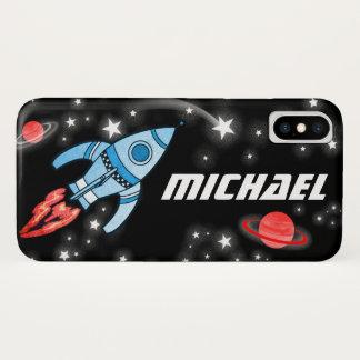 Coque iphone nommé de l'espace de fusée de 7