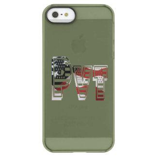 Coque iPhone Permafrost® SE/5/5s Américain militaire privé Pvt de vert d'armée des