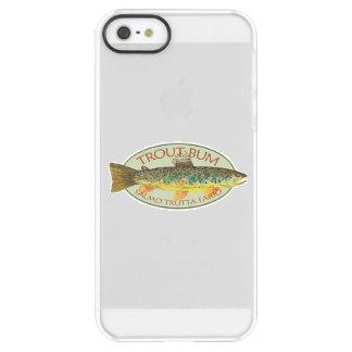 Coque iPhone Permafrost® SE/5/5s Pêcheur à la ligne drôle de truite de Brown