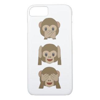 Coque iphone personnalisable d'Emoji de singe