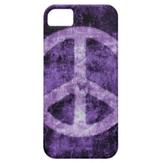Coque iphone pourpre affligé de signe de paix