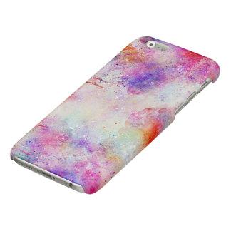 Coque iphone pourpre de lustre de motif de galaxie