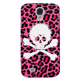 Coque iphone punk de crâne de Goth d'empreinte de  Coque Galaxy S4