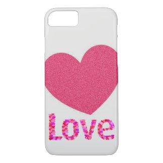 coque iphone rose d'amour de coeur