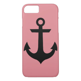 Coque iphone rose d'ancre