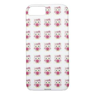Coque iphone rose de hibou de bébé