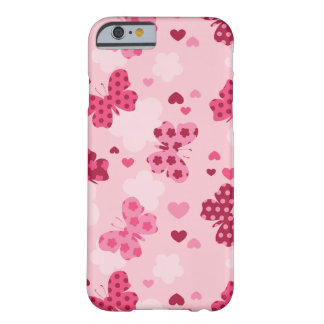 Coque iphone rose de motif de papillon